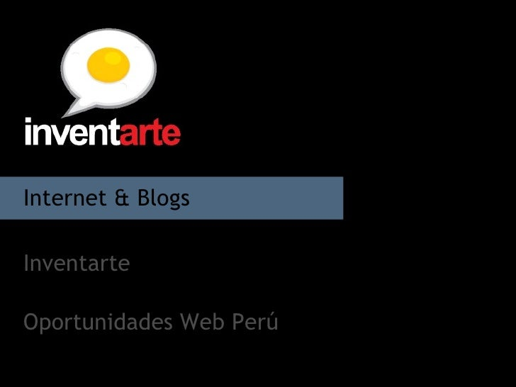 Internet & Blogs  Inventarte Oportunidades Web Perú