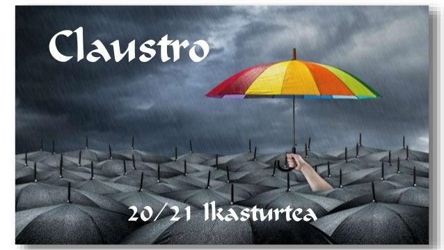 Claustro 20/21 Ikasturtea