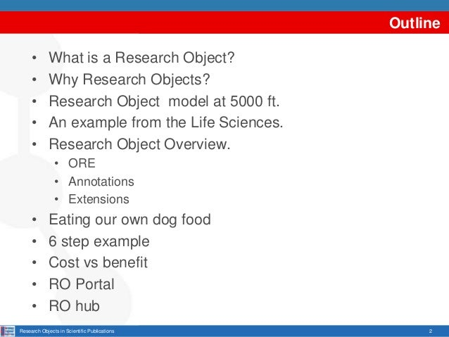 Research Objects in Scientific Publications Slide 2