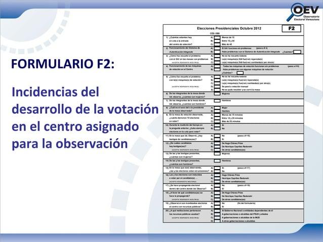 Elecciones Presidenciales Octubre 2012                                            F2                                      ...