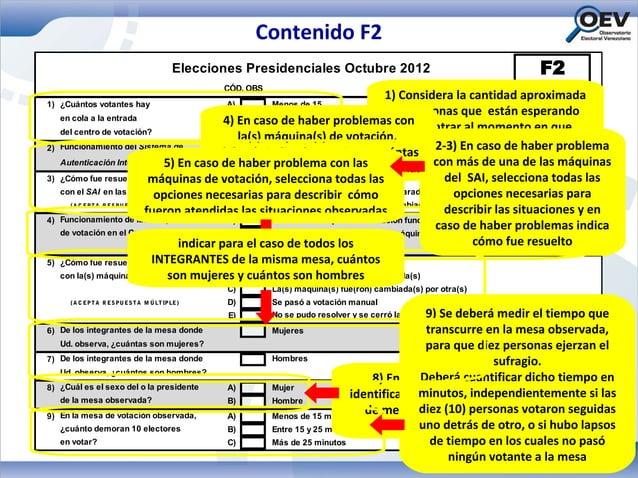 Contenido F2                                           Elecciones Presidenciales Octubre 2012                             ...