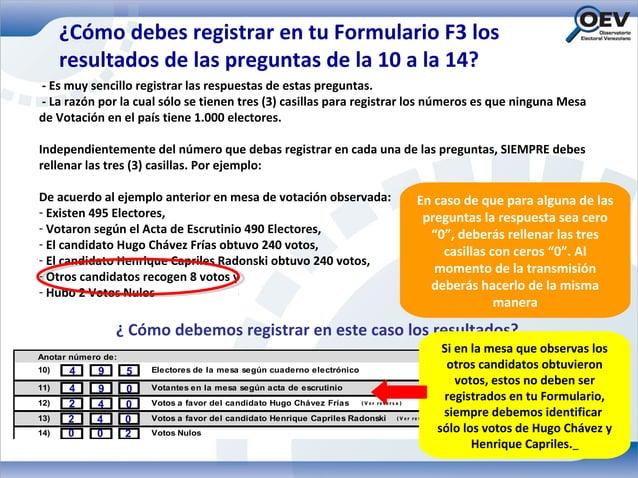 ¿Cómo debes registrar en tu Formulario F3 los      resultados de las preguntas de la 10 a la 14?- Es muy sencillo registra...