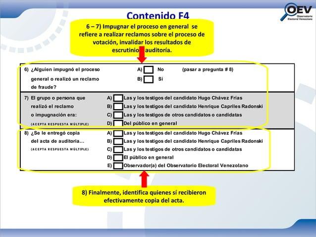 Contenido F4                                     6 – 7) Impugnar el proceso en general se                                 ...