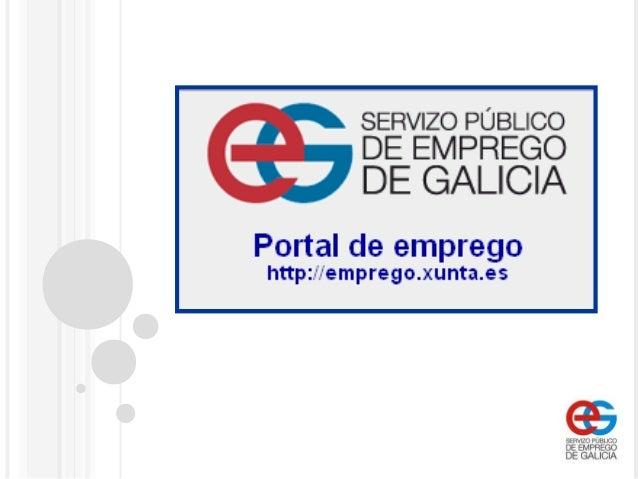 Funcionamiento de la oficina virtual del servizo p blico for Oficina de emprego galicia