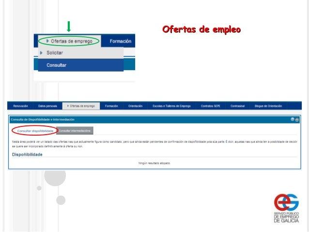 Funcionamiento de la oficina virtual del servizo p blico for Oficina virtual consejeria de empleo