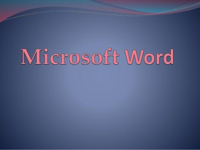Es un software destinado al procesamiento de textos, que sirve para crear diferentes tipos de documentos como por ejemplo ...