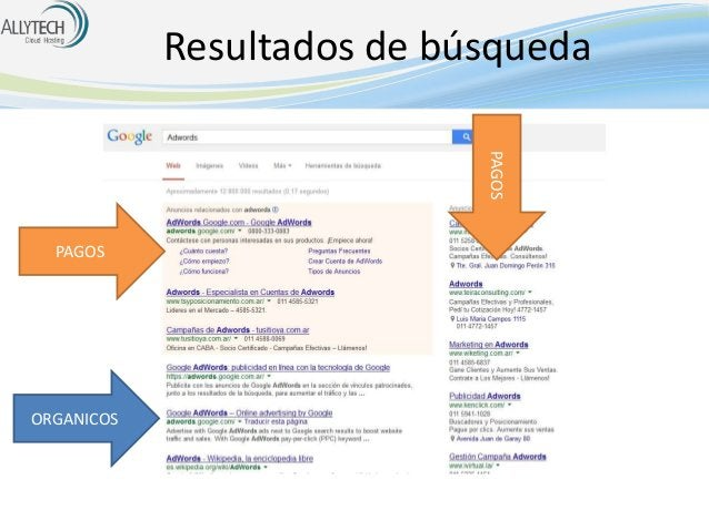 Resultados de búsqueda PAGOS  PAGOS  ORGANICOS