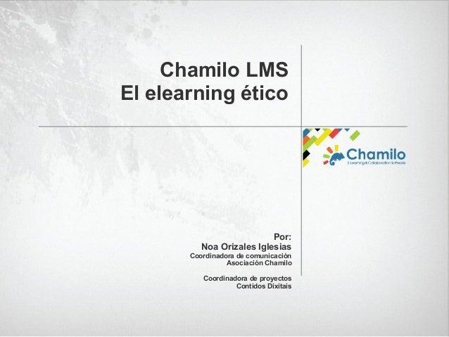 Presentacion sobre Chamilo en OpenExpo Slide 2