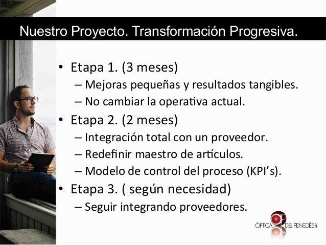 Nuestro Proyecto. Transformación Progresiva.  • Etapa&1.&(3&meses)& – Mejoras&pequeñas&y&resultados&tangibles.& – No&ca...