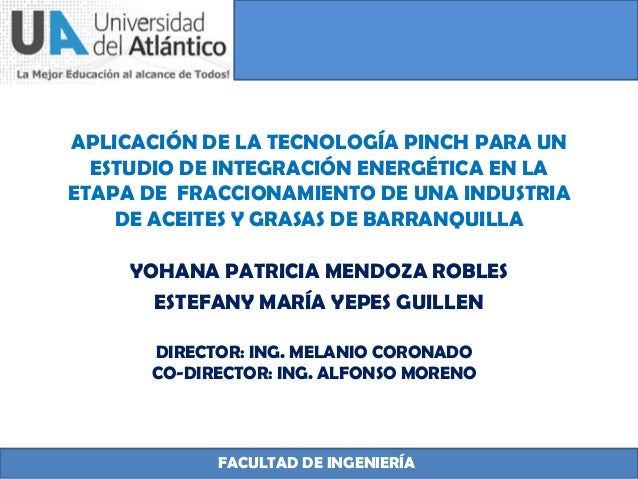 APLICACIÓN DE LA TECNOLOGÍA PINCH PARA UN ESTUDIO DE INTEGRACIÓN ENERGÉTICA EN LA ETAPA DE FRACCIONAMIENTO DE UNA INDUSTRI...