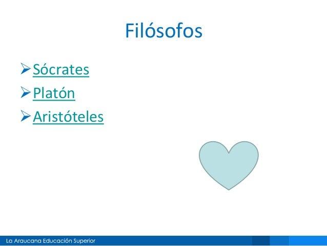 Filósofos Sócrates Platón Aristóteles
