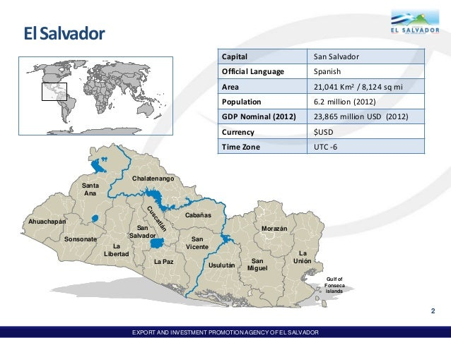 El salvador country presentation august 2013 export and investment promotion agency of el salvador acountryofopportunities august 2013 1 2 freerunsca Image collections