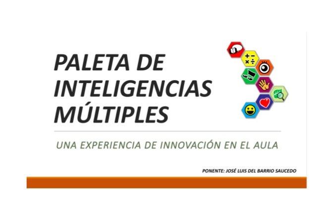 Presentacion paleta inteligencias múltiples