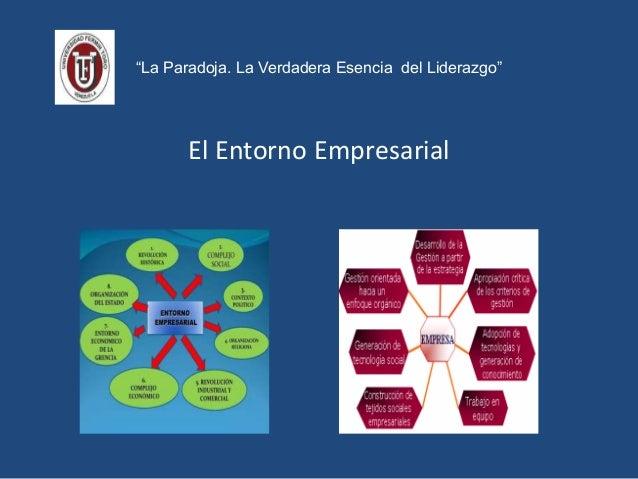 """""""La Paradoja. La Verdadera Esencia del Liderazgo"""" El Entorno Empresarial"""