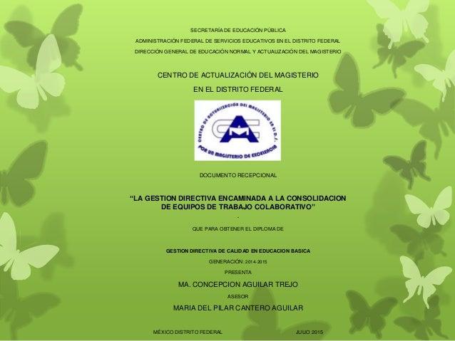 SECRETARÍA DE EDUCACIÓN PÚBLICA  ADMINISTRACIÓN FEDERAL DE SERVICIOS EDUCATIVOS EN EL DISTRITO FEDERAL  DIRECCIÓN GENERAL ...