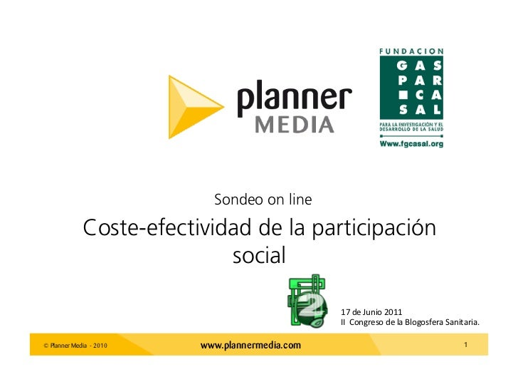 Sondeo on line             Coste-efectividad de la participación                            social                        ...