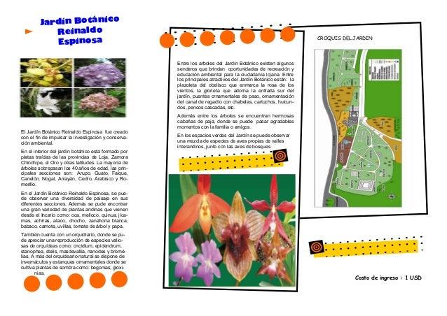 Triptico informacion jardin botanico reinaldo espinosa loja for Informacion sobre el jardin botanico