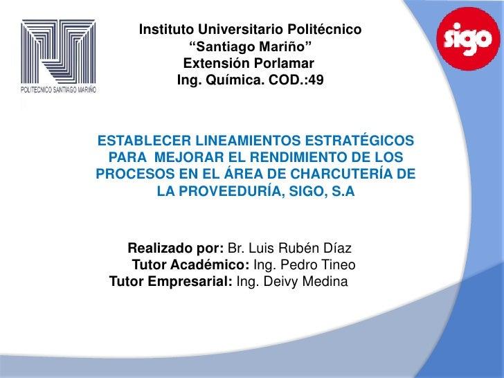 """Instituto Universitario Politécnico              """"Santiago Mariño""""             Extensión Porlamar            Ing. Química...."""