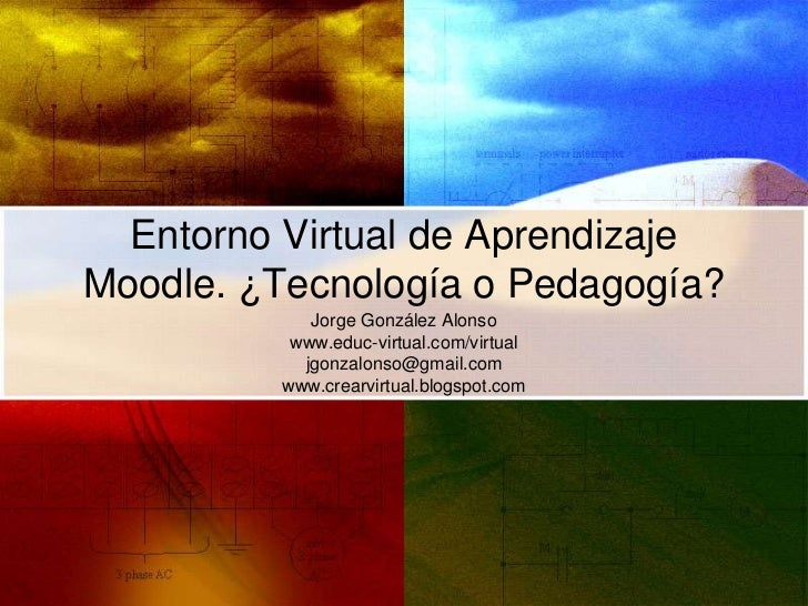 Entorno Virtual de AprendizajeMoodle. ¿Tecnología o Pedagogía?            Jorge González Alonso          www.educ-virtual....