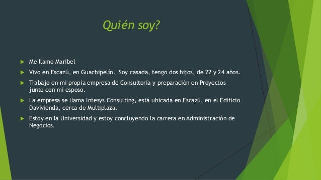 Presentacion personal mch Slide 2