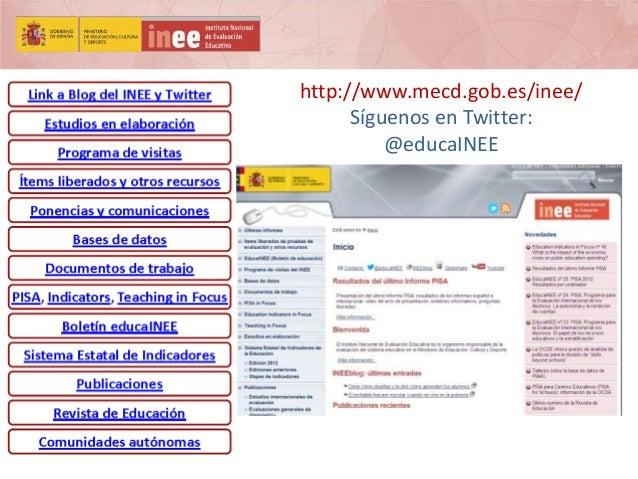 http://www.mecd.gob.es/inee/ Síguenos en Twitter: @educaINEE