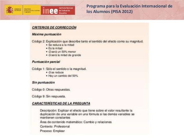 Programa para la Evaluación Internacional de los Alumnos (PISA 2012)