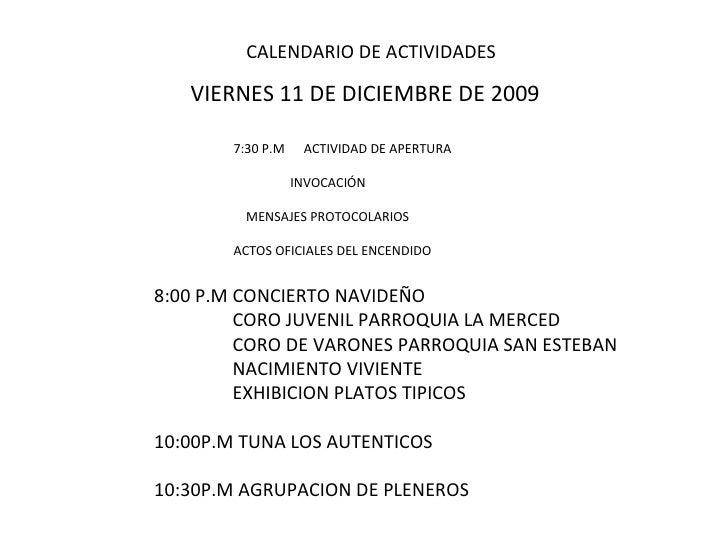 Presentacion Plan De Trabajo Festival NavideñO