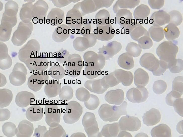 Colegio Esclavas del Sagrado Corazón de Jesús <ul><li>Alumnas: </li></ul><ul><li>Autorino, Ana Clara  </li></ul><ul><li>Gu...