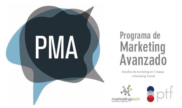 Programa de  Marketing  Avanzado Desafíos de marketing en 7 etapas + Marketing Trends
