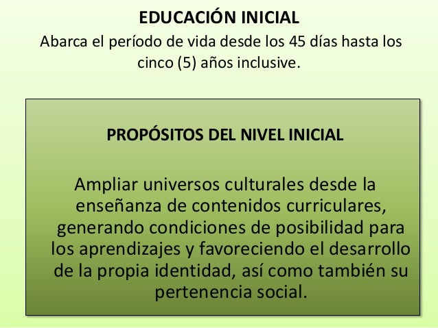 presentacion pnfs inicial 19 9 On contenidos curriculares nivel inicial