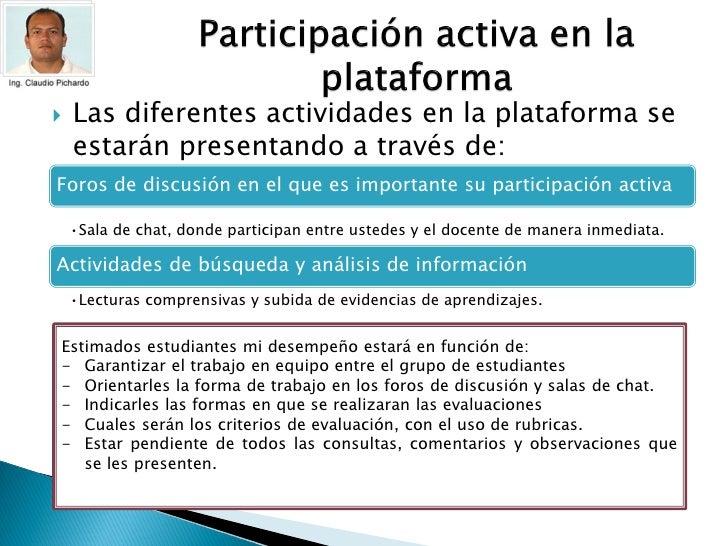 Presentacion por el facilitador del curso Slide 3