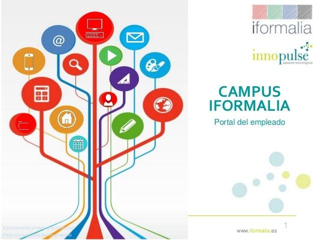 1www.iformalia.es CAMPUS IFORMALIA Portal del empleado Estrictamente privado y confidencial Para uso exclusivo del destina...