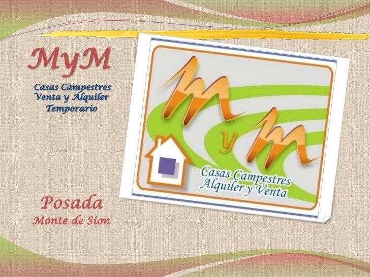 MyMCasas CampestresVenta y Alquiler  Temporario PosadaMonte de Sion