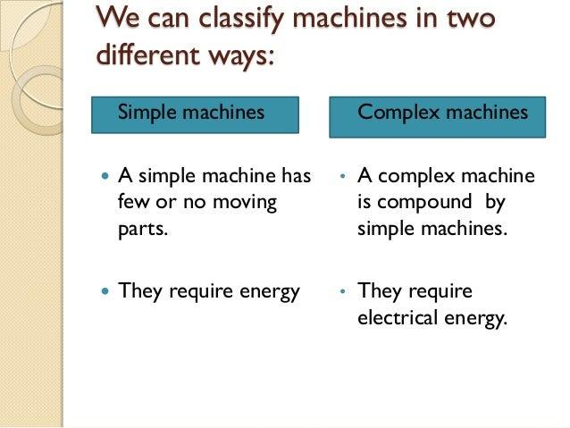 complex machine definition