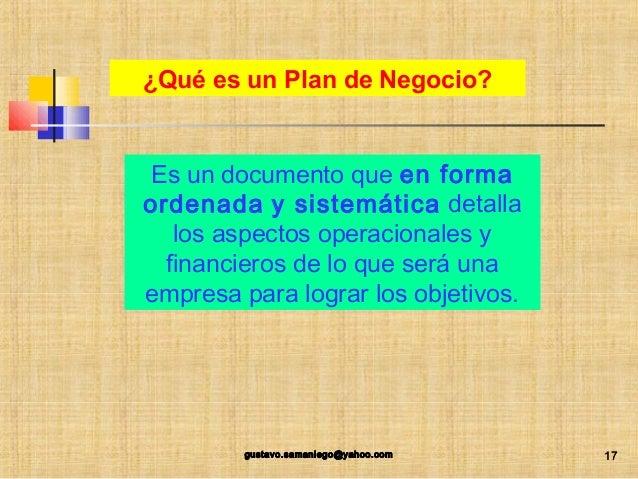 Presentacion Ppt Como Elaborar Un Plan De Negocio