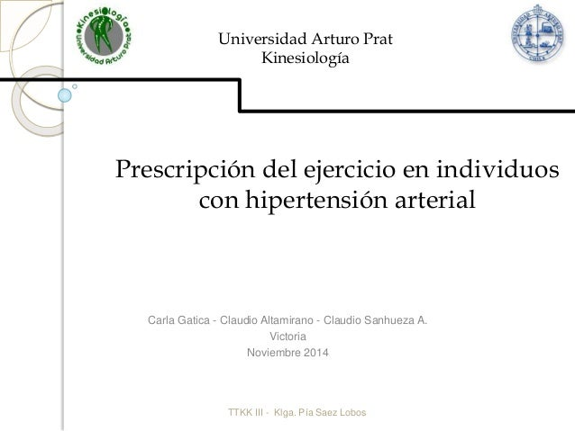 Prescripcion de ejercicio fisico en Hipertension