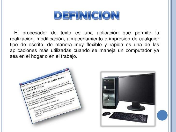 Presentacion procesadores de texto - Definicion de multimedia ...