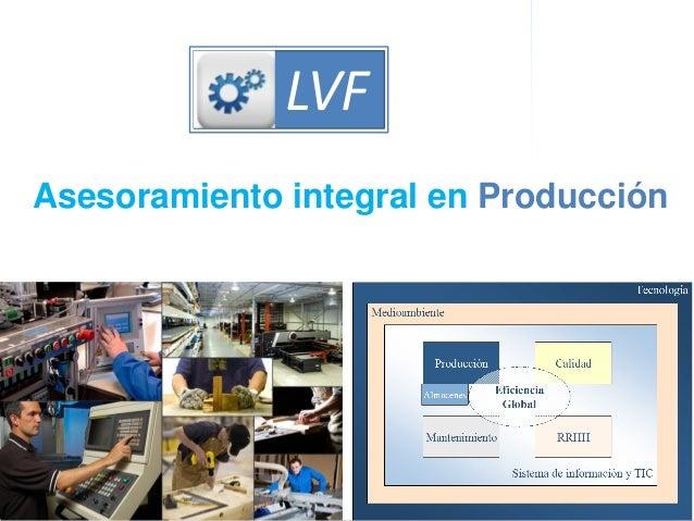 Dirección de OperacionesProductividad integral LVF Asesoramiento integral en Producción LVF