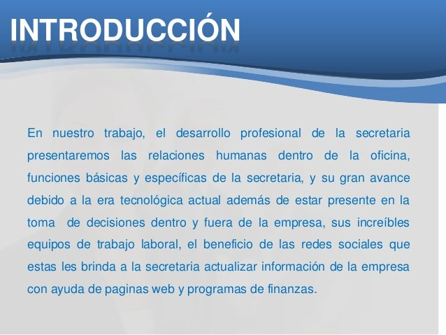 Desarrollo Profesional De La Secretaria Ejecutiva