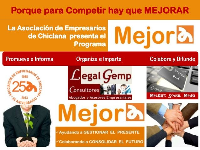 Porque para Competir hay que MEJORAR La Asociación de Empresarios de Chiclana presenta el Programa