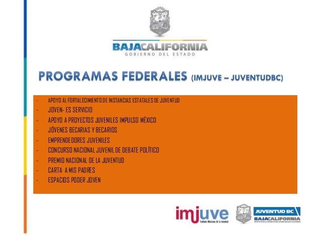 - APOYO AL FORTALECIMIENTO DE INSTANCIAS ESTATALES DE JUVENTUD - JOVEN- ES SERVICIO - APOYO A PROYECTOS JUVENILES IMPULSO ...