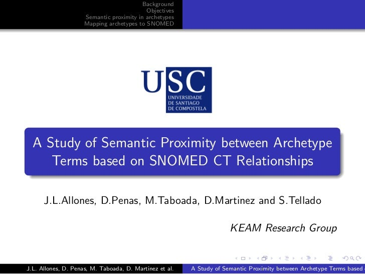 Background                                           Objectives                     Semantic proximity in archetypes      ...