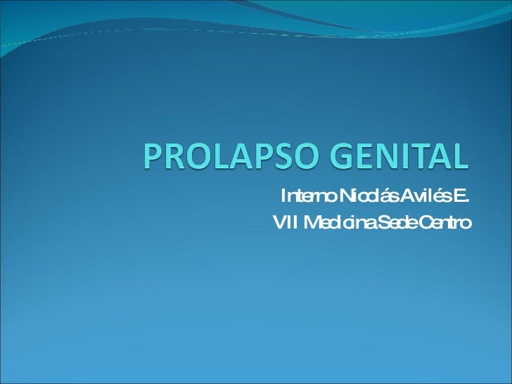 Interno Nicolás Avilés E. VII Medicina Sede Centro