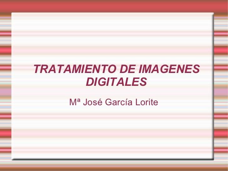 TRATAMIENTO DE IMAGENES DIGITALES Mª José García Lorite