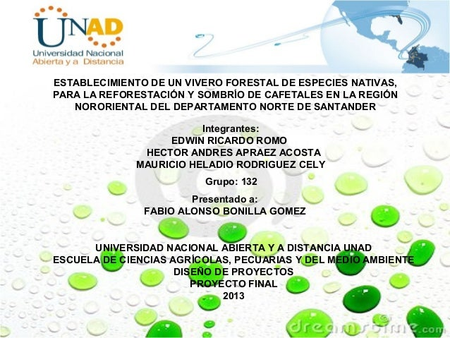 Presentacion proyecto mao 2 for Proyecto productivo de vivero forestal