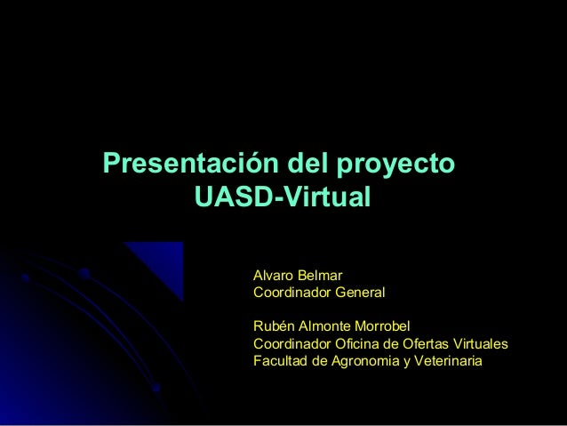 Plan piloto uasd virtual for Oficina veterinaria virtual