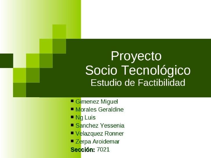 presentacion de un proyecto