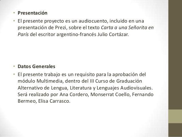 presentación proyecto multimedia