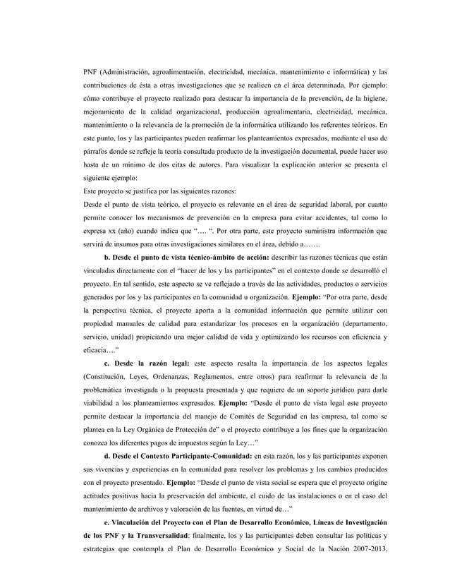 PNF (Administración, agroalimentación, electricidad, mecánica, mantenimiento e informática) y lascontribuciones de ésta a ...
