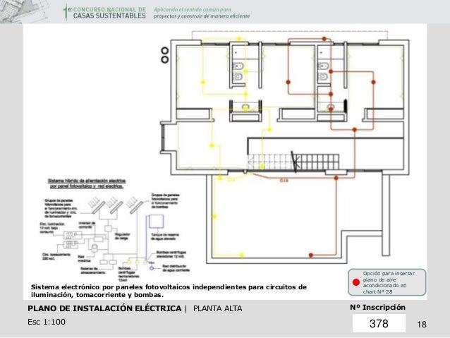 Concurso casa sustentable for Plano instalacion electrica